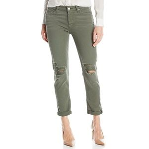 7 For All Mankind Olive Cropped Jeans